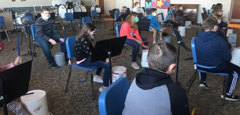 5th grade music class is drumming this year!