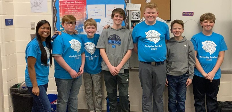 Congratulations to the JH Quiz Bowl team for taking 2nd place at the county bowl last night!
