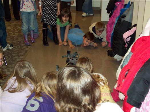 Robotics demonstration to First Grade