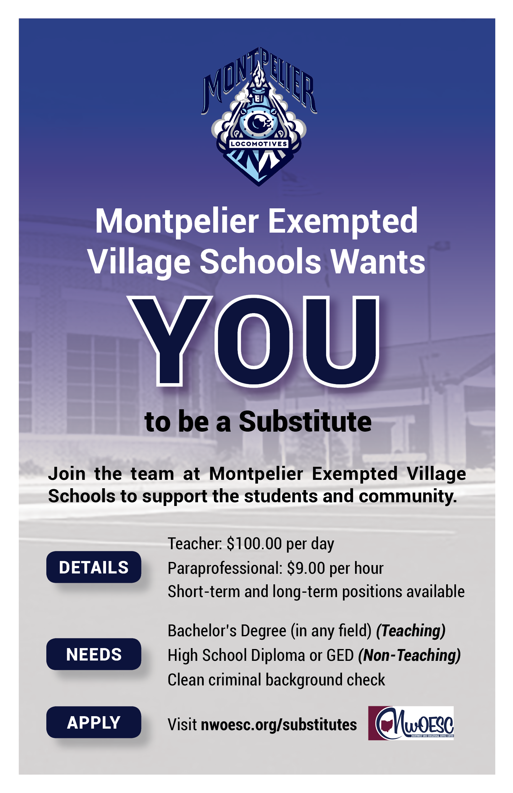 Substitute Teaching Flyer