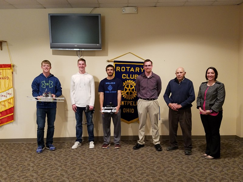 Robotics were honored guests and presenters at Rotary.